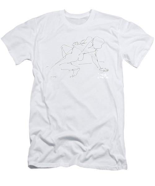 Nude-female-drawing-17 Men's T-Shirt (Athletic Fit)