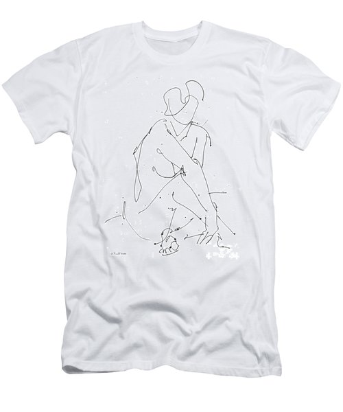 Nude-female-drawing-19 Men's T-Shirt (Athletic Fit)