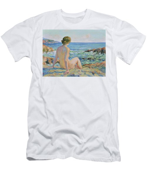 Nude On The Coast Monaco Men's T-Shirt (Athletic Fit)