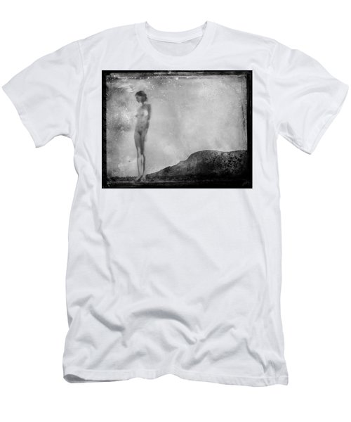 Men's T-Shirt (Athletic Fit) featuring the photograph Nude On The Fence, Galisteo by Jennifer Wright