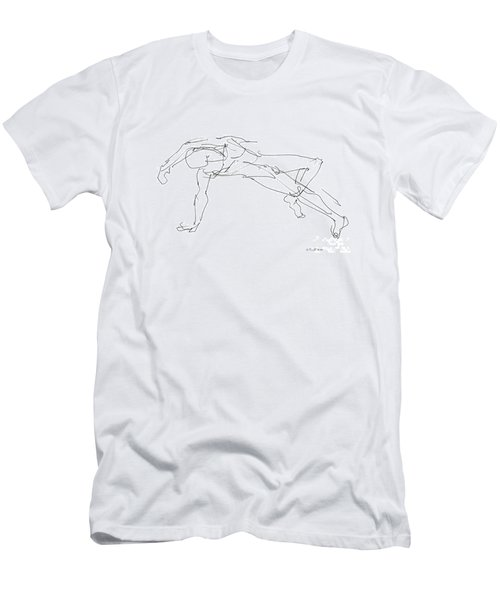 Nude_male_drawings_23 Men's T-Shirt (Athletic Fit)