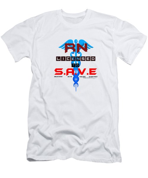 Nurses Licensed To Save Men's T-Shirt (Athletic Fit)