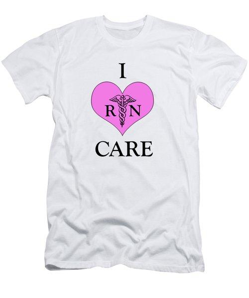 Nursing I Care -  Pink Men's T-Shirt (Athletic Fit)