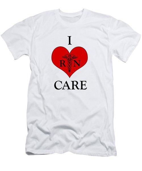 Nursing I Care -  Red Men's T-Shirt (Slim Fit) by Mark Kiver