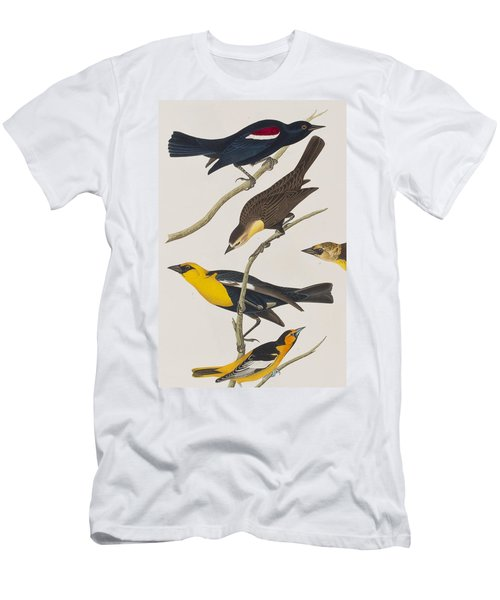 Nuttall's Starling Yellow-headed Troopial Bullock's Oriole Men's T-Shirt (Slim Fit) by John James Audubon