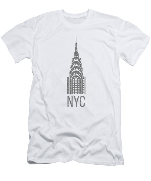 Nyc New York City Graphic Men's T-Shirt (Slim Fit) by Edward Fielding