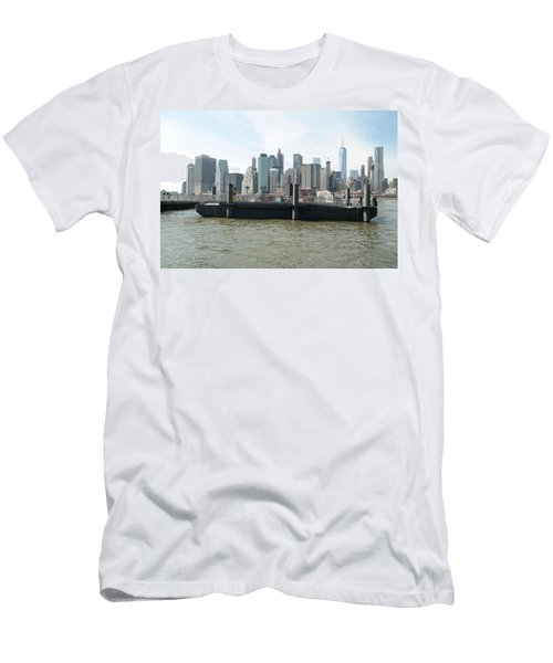 Nyc Skyline Men's T-Shirt (Slim Fit) by Michael Paszek