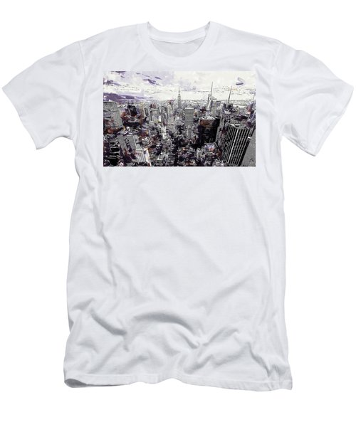 Nyc View From Rockefeller Center Men's T-Shirt (Athletic Fit)