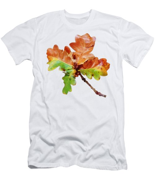 Oak Leaves Autumn Glow Men's T-Shirt (Athletic Fit)