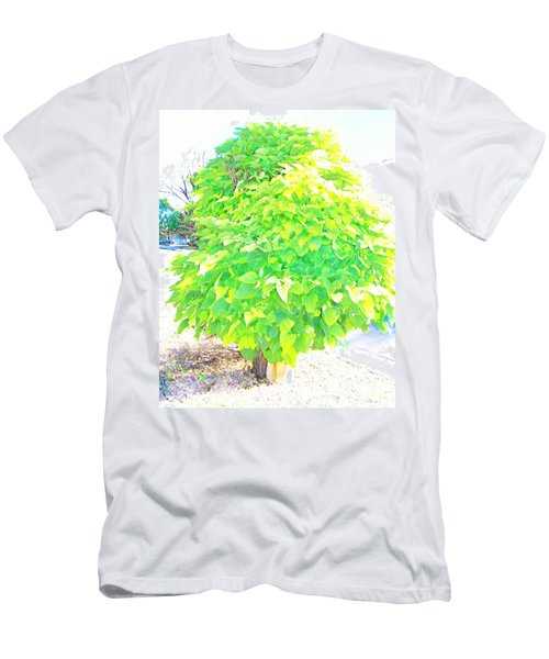 Men's T-Shirt (Slim Fit) featuring the photograph Obese American Tree by Lenore Senior
