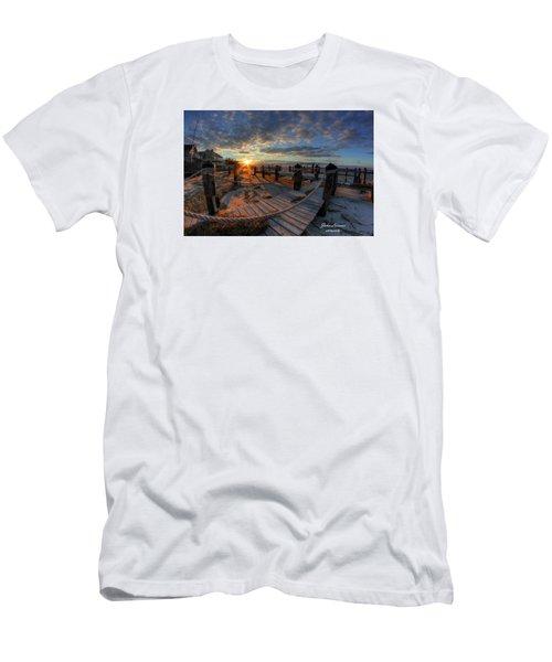 Oc Bay Sunset Men's T-Shirt (Slim Fit) by John Loreaux