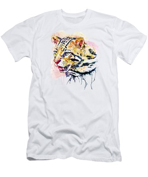 Ocelot Head Men's T-Shirt (Slim Fit) by Marian Voicu