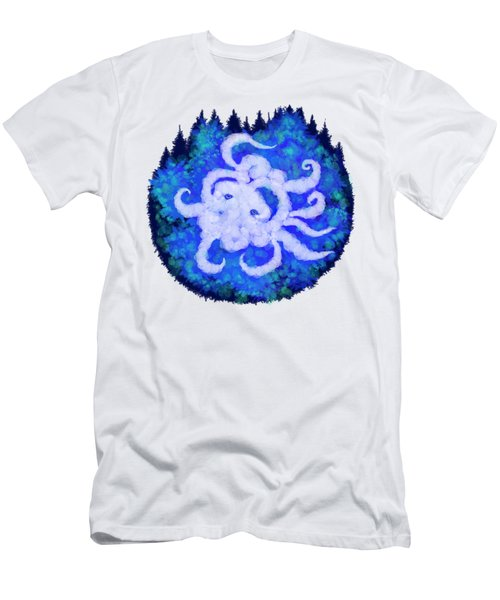 Octopus And Trees Men's T-Shirt (Slim Fit) by Adria Trail