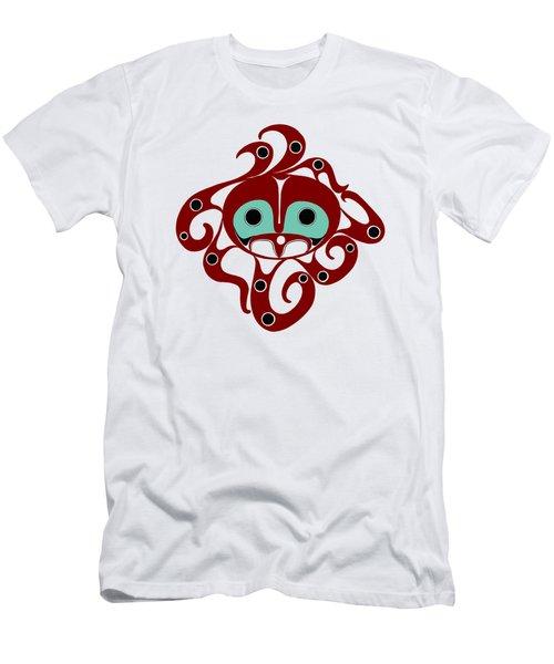 Octopus - Northwest Coast Formline Design Men's T-Shirt (Athletic Fit)