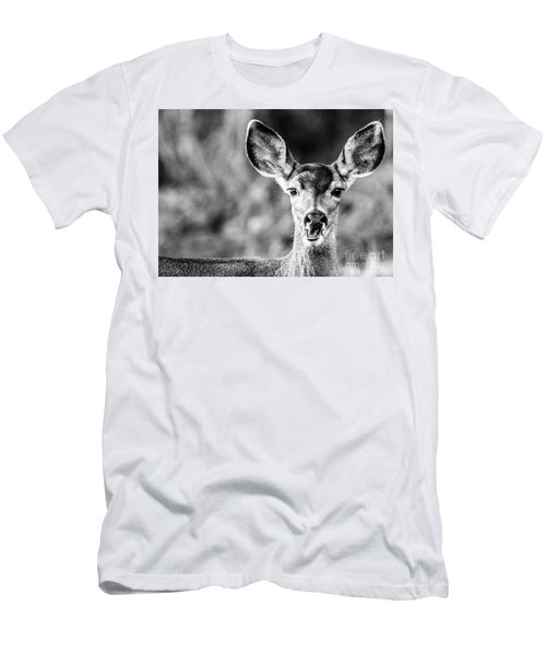 Oh, Deer, Black And White Men's T-Shirt (Athletic Fit)