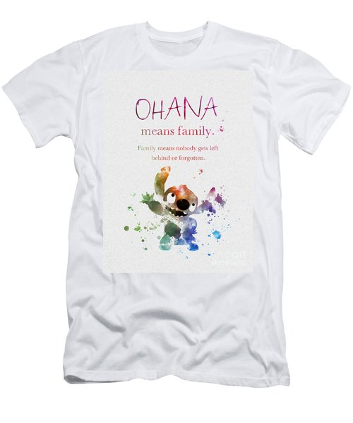 f81c65a0 Ohana Means Family Men's T-Shirt (Athletic Fit)