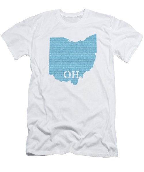 Ohio State Map With Text Of Constitution Men's T-Shirt (Athletic Fit)