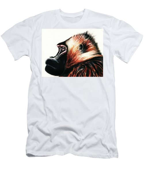 Old Baboon Animal Art Drawing Men's T-Shirt (Athletic Fit)
