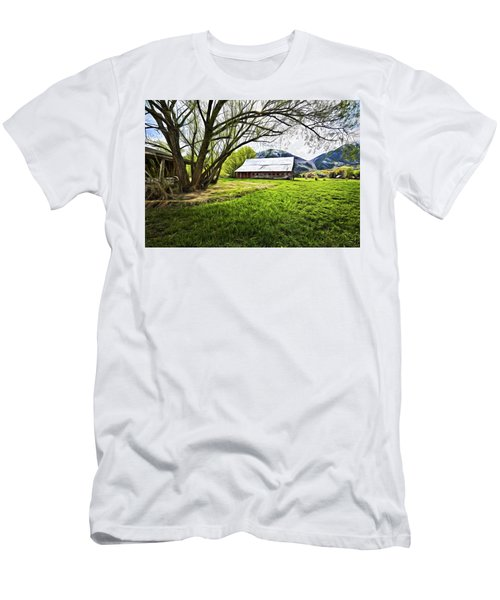 Old Barn In Eden Utah Men's T-Shirt (Slim Fit) by James Steele