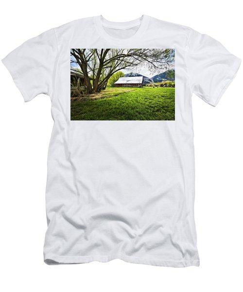 Old Barn In Eden Utah Men's T-Shirt (Athletic Fit)