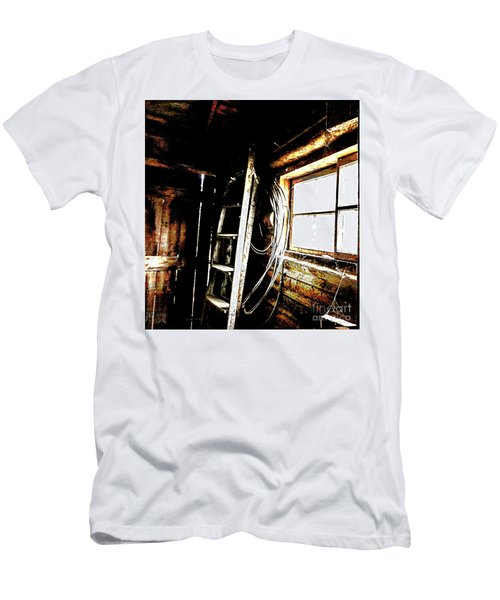 Old Barn Ladder Men's T-Shirt (Slim Fit) by Deborah Nakano