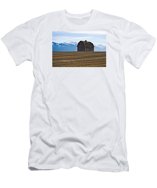 Old Barn, Mission Mountains 2 Men's T-Shirt (Athletic Fit)
