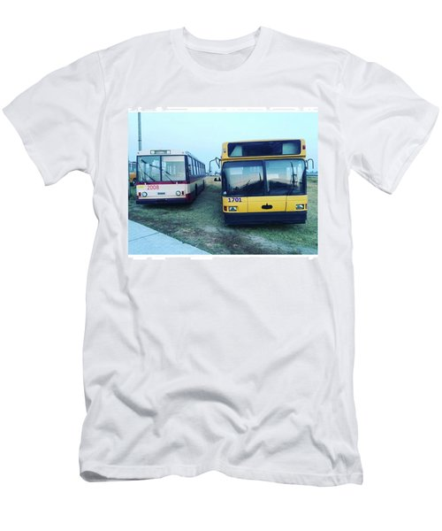 #old #bus #museum #oldcarfest2016 Men's T-Shirt (Slim Fit)