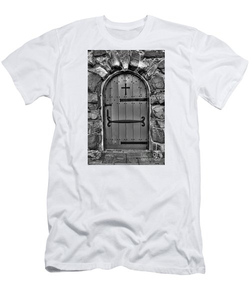 Men's T-Shirt (Slim Fit) featuring the photograph Old Church Door by Alana Ranney