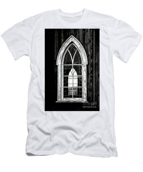 Men's T-Shirt (Slim Fit) featuring the photograph Old Church Window by Brad Allen Fine Art