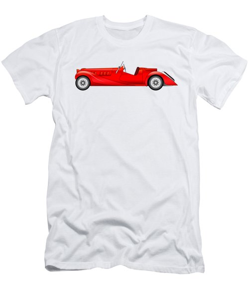 Men's T-Shirt (Slim Fit) featuring the digital art Old Classic Race Car by Michal Boubin