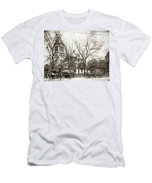Old Courthouse Public Square Wilkes Barre Pa Late 1800s Men's T-Shirt (Athletic Fit)