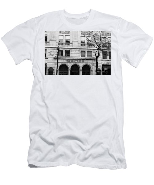 Old Ebbitt Grill Facade Black And White Men's T-Shirt (Athletic Fit)