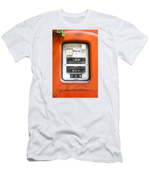 Men's T-Shirt (Slim Fit) featuring the photograph Old Gas Pump by Tom Singleton