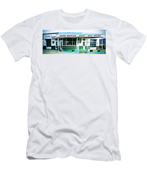 Old Gas Station Green Tile Men's T-Shirt (Athletic Fit)
