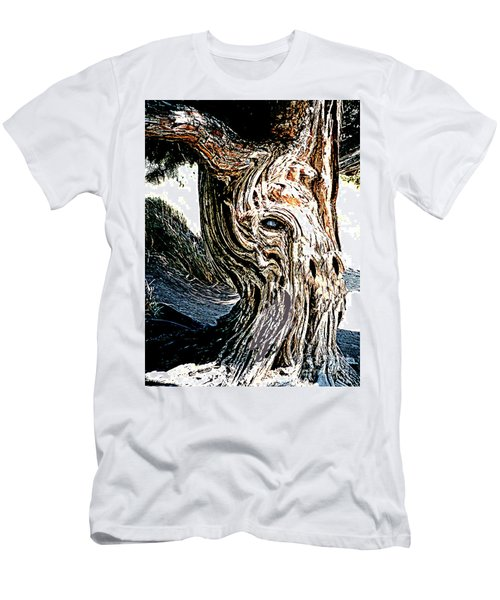 Men's T-Shirt (Athletic Fit) featuring the digital art Old Juniper Mule Tree by Merton Allen