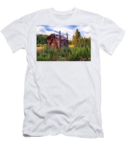 Old Lumber Mill Cabin Men's T-Shirt (Slim Fit) by James Eddy