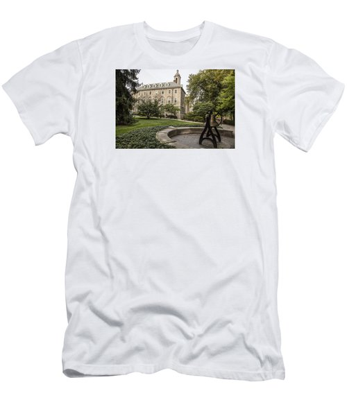 Old Main Penn State Bell  Men's T-Shirt (Slim Fit) by John McGraw