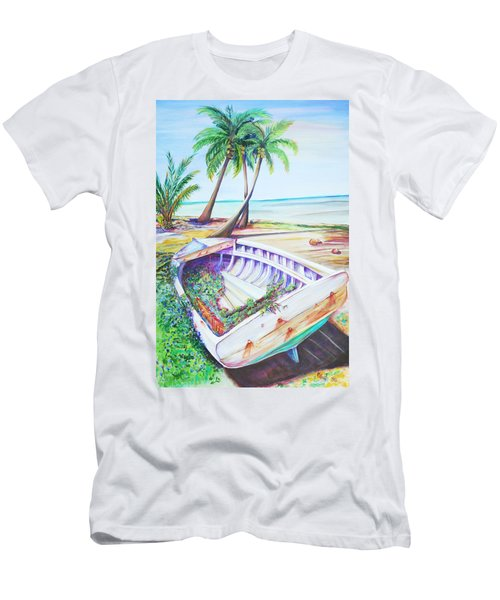 Men's T-Shirt (Slim Fit) featuring the painting Old Paint by Patricia Piffath