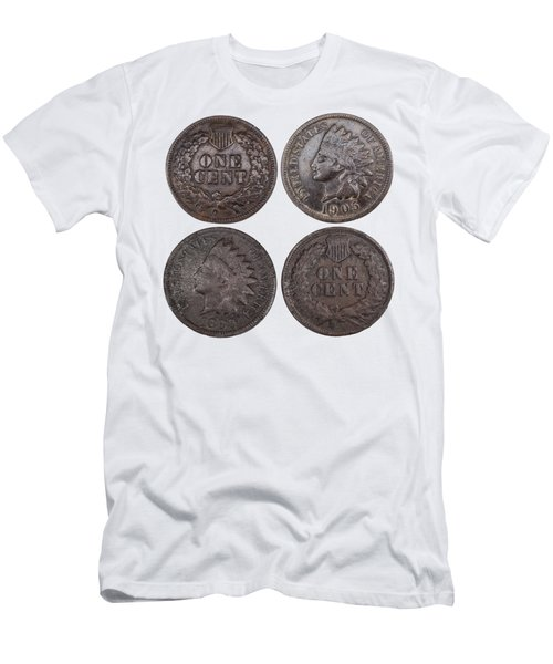 Old Pennies 2016-1 Men's T-Shirt (Slim Fit) by Thomas Young
