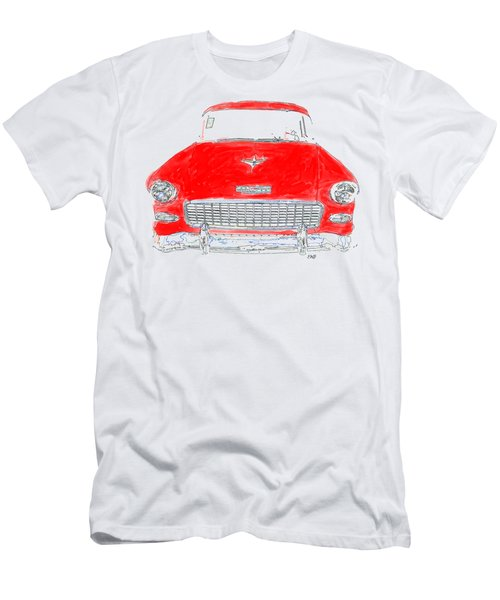 Old Red Car Drawing T-shirt Men's T-Shirt (Athletic Fit)
