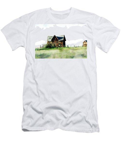 Old Sagging House Men's T-Shirt (Slim Fit) by Debra Baldwin