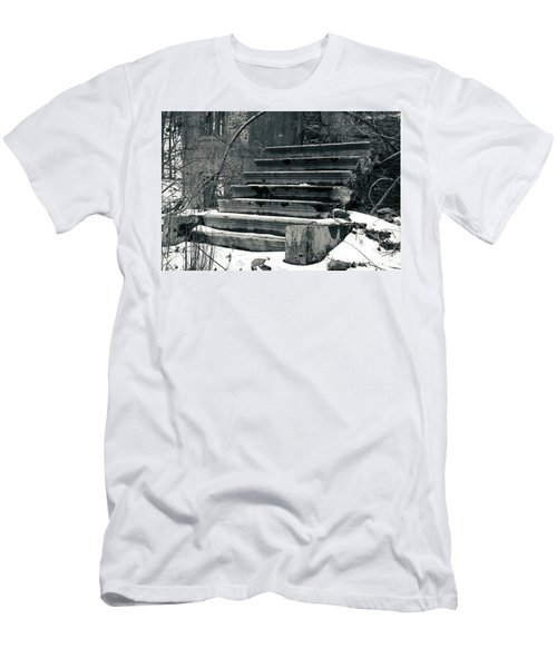 Old Stairs To Nowhere Men's T-Shirt (Slim Fit) by Jeff Severson