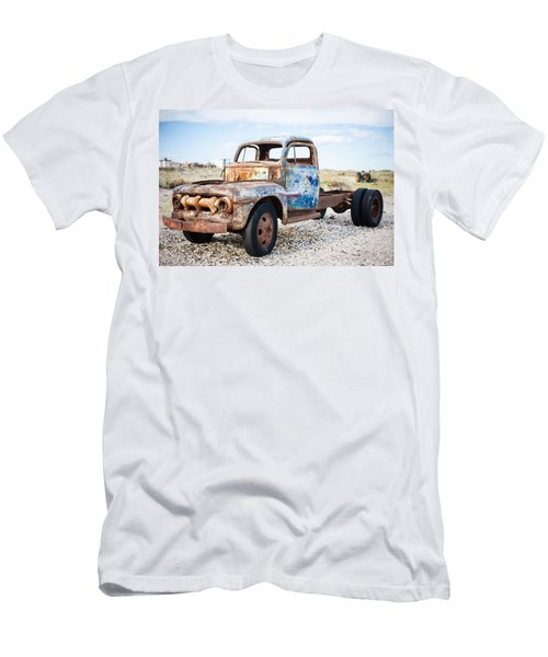 Old Truck Men's T-Shirt (Slim Fit) by Silvia Bruno