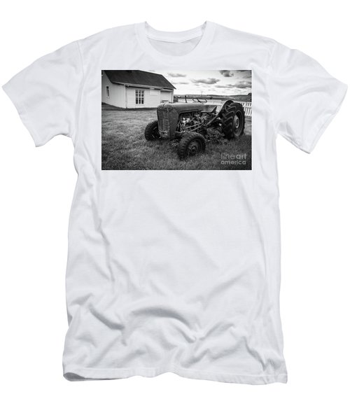 Men's T-Shirt (Athletic Fit) featuring the photograph Old Vintage Tractor Iceland by Edward Fielding