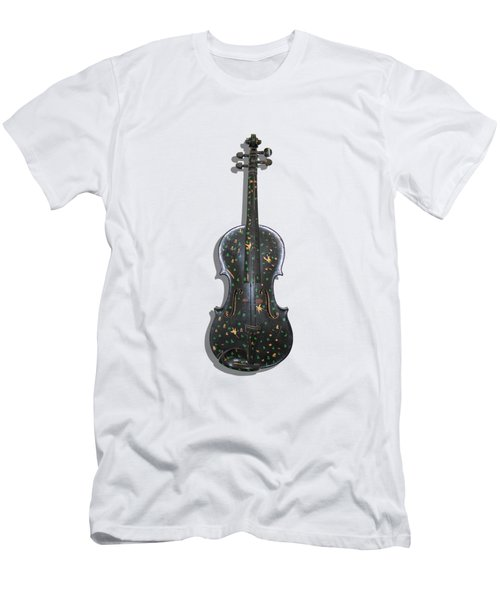 Old Violin With Painted Symbols Men's T-Shirt (Athletic Fit)