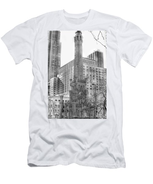 Old Water Tower - Chicago Men's T-Shirt (Athletic Fit)