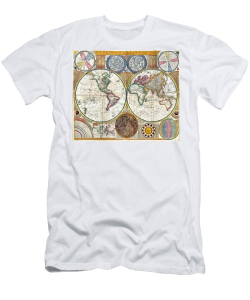 Old World Map Print From 1794 Men's T-Shirt (Athletic Fit)