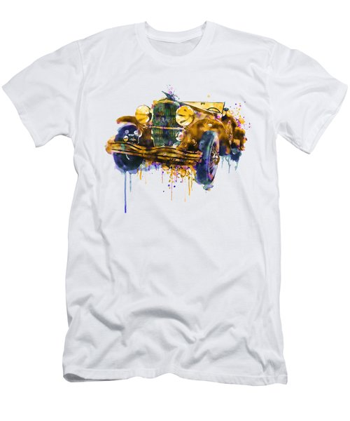 Oldtimer Automobile In Watercolor Men's T-Shirt (Athletic Fit)