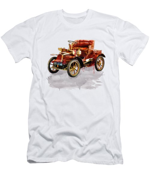 Oldtimer Car Watercolor Men's T-Shirt (Athletic Fit)