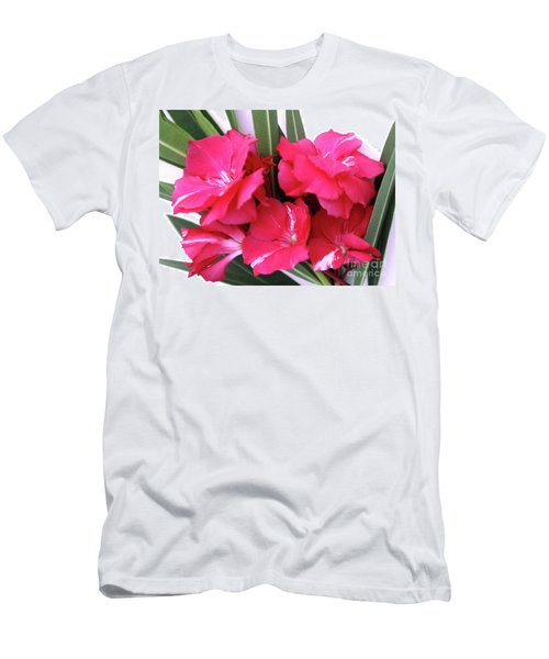 Men's T-Shirt (Slim Fit) featuring the photograph Oleander Geant Des Batailles 1 by Wilhelm Hufnagl